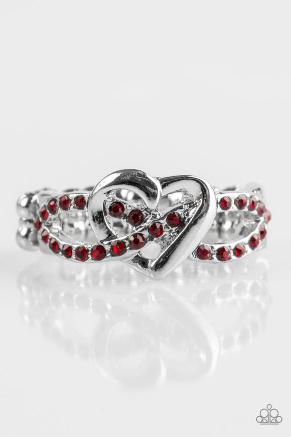 Heavenly Heart Red - Paparazzi Accessories