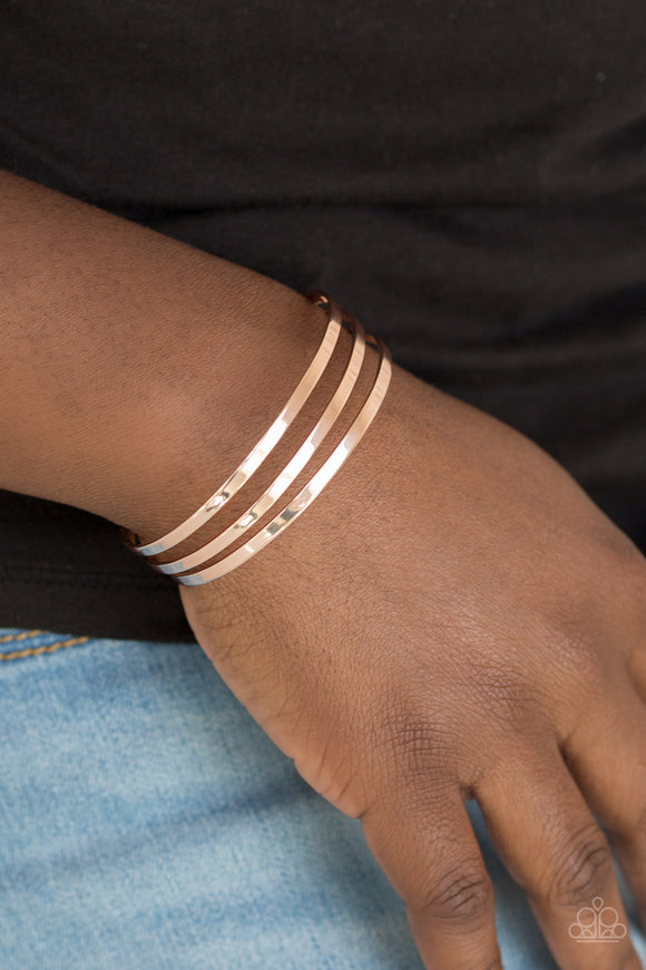 Street Sleek Rose Gold - Paparazzi Accessories