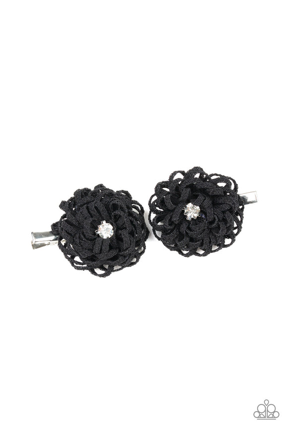 Peppy In Petunias Black - Paparazzi Accessories
