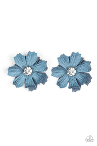 Candid Carnations Blue - Paparazzi Accessories