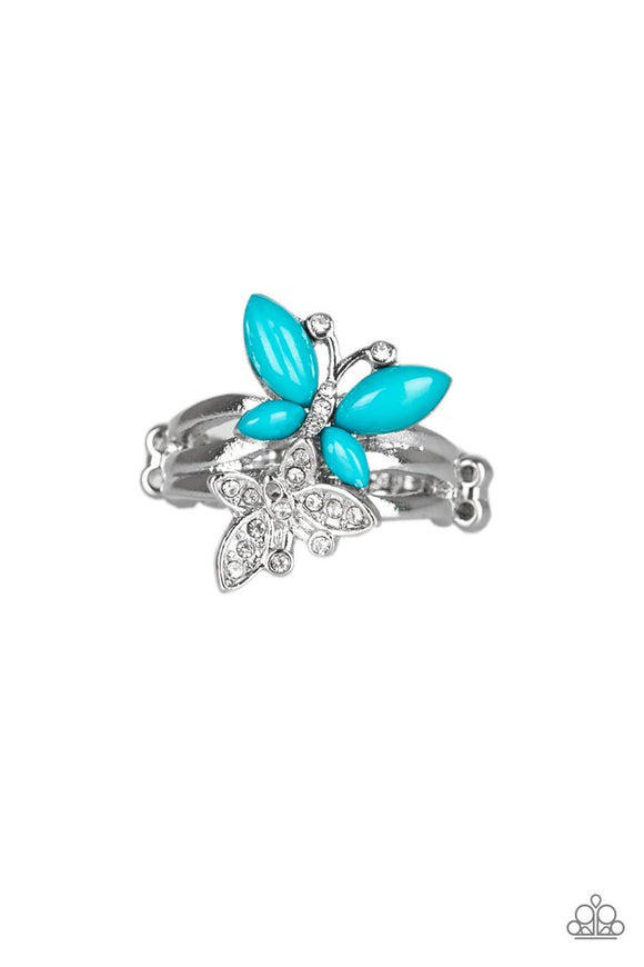 Flutter Flirt Blue - Paparazzi Accessories