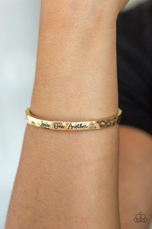 Love One Another Gold - Paparazzi Accessories