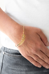How Do You Like This FEATHER? Gold - Paparazzi Accessories