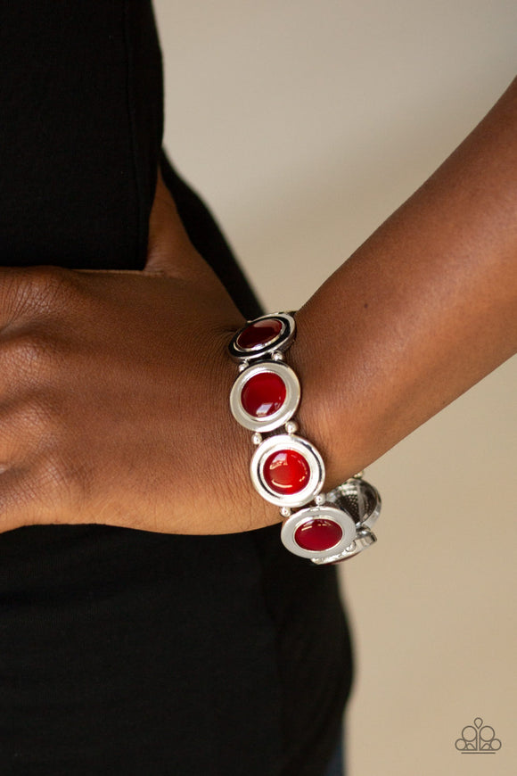 Muster Up The Luster Red - Paparazzi Accessories