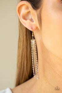 Starlit Tassels Gold - Paparazzi Accessories