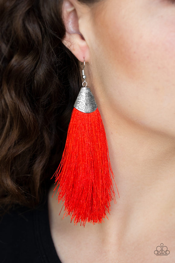 Tassel Temptress Red - Paparazzi Accessories