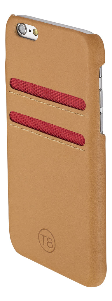 iPhone 6 wallet  – Tan leather/Red trim