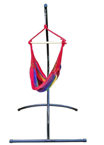 Hamac Univers Ensembles Hamac avec Support couleurs-vives Chaise hamac brésilienne suspendue + Support Universel 82101+75217-2