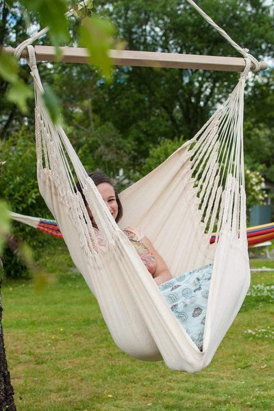 Hamac Univers Hammocks with Stands ecru Colombian Hammock Chair with Universal Chair Stand 794604045849 COHC-1+75217-2