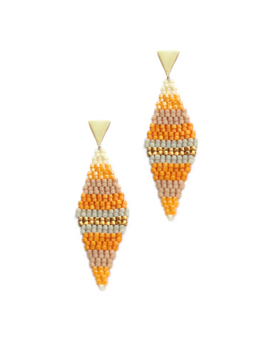 Sadie Earring / Autumn Stripes