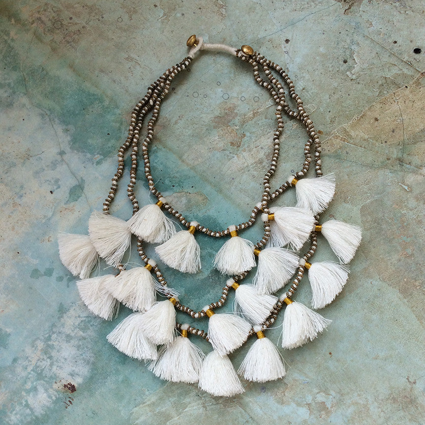 Gia Necklace - White
