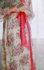 "Limited Edition. Alpine Spring full length ""Astaire"" lined chiffon robe. Medium."