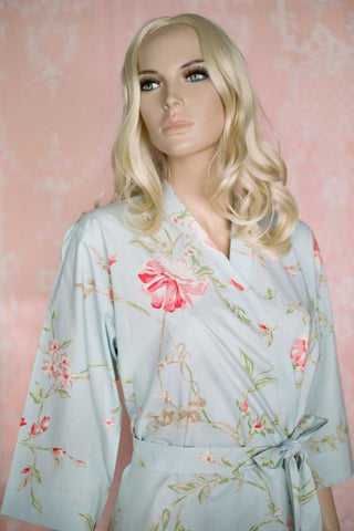 Limited Edition. May Blossom. Short cotton robe. Medium.