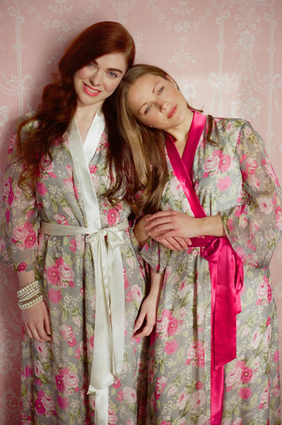 "Limited Edition. Secret garden full length ""Astaire"" lined chiffon robe. Medium."