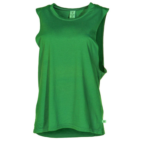 Abby - Women's Sleeve Less Crew Neck Soft Premium Muscle Tee Shirt