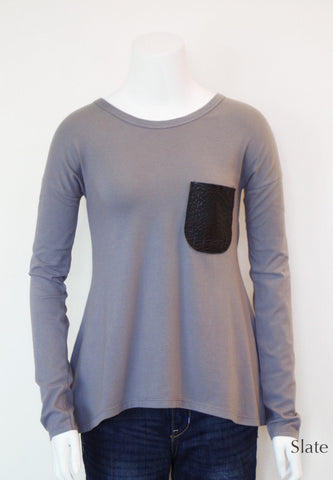 Contrast Pocket Tunic