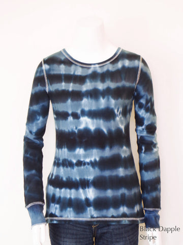 Dapple Stripe Thermal Tee