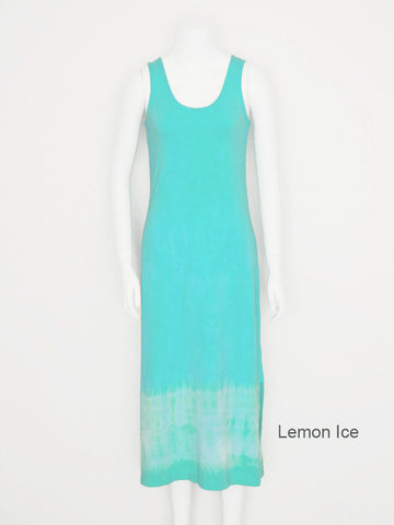 Tie Dye Tank Dress - Lemon Ice