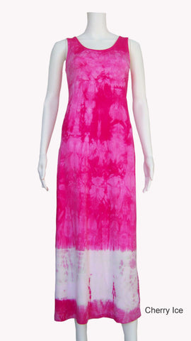 Tie Dye Tank Dress - Cherry Ice