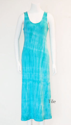Tie Dye Tank Dress - Tile