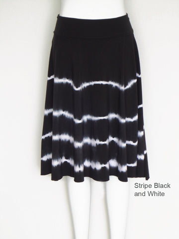 Striped Roll Waist Skirt