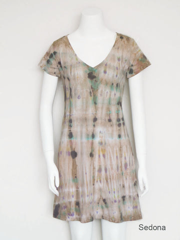 V-Neck Tee Shirt Dress - Sedona