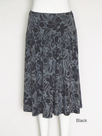 Shadow Print Yoke Skirt