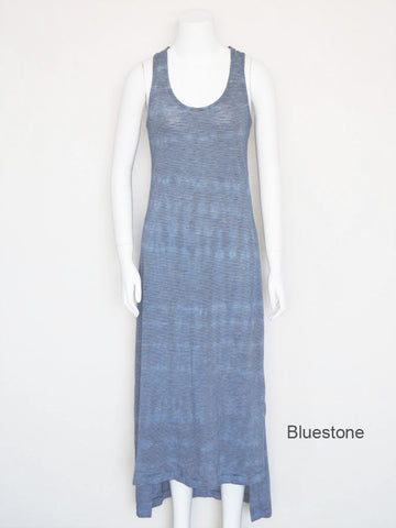 Hi-Lo Striped Tank Dress - Bluestone