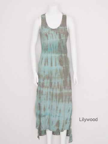 Hi-Lo Striped Tank Dress - Lilywood