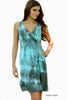 Tie Dye Goddess Dress - Aqua Haze