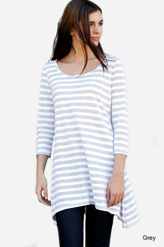 Heather Striped Tunic