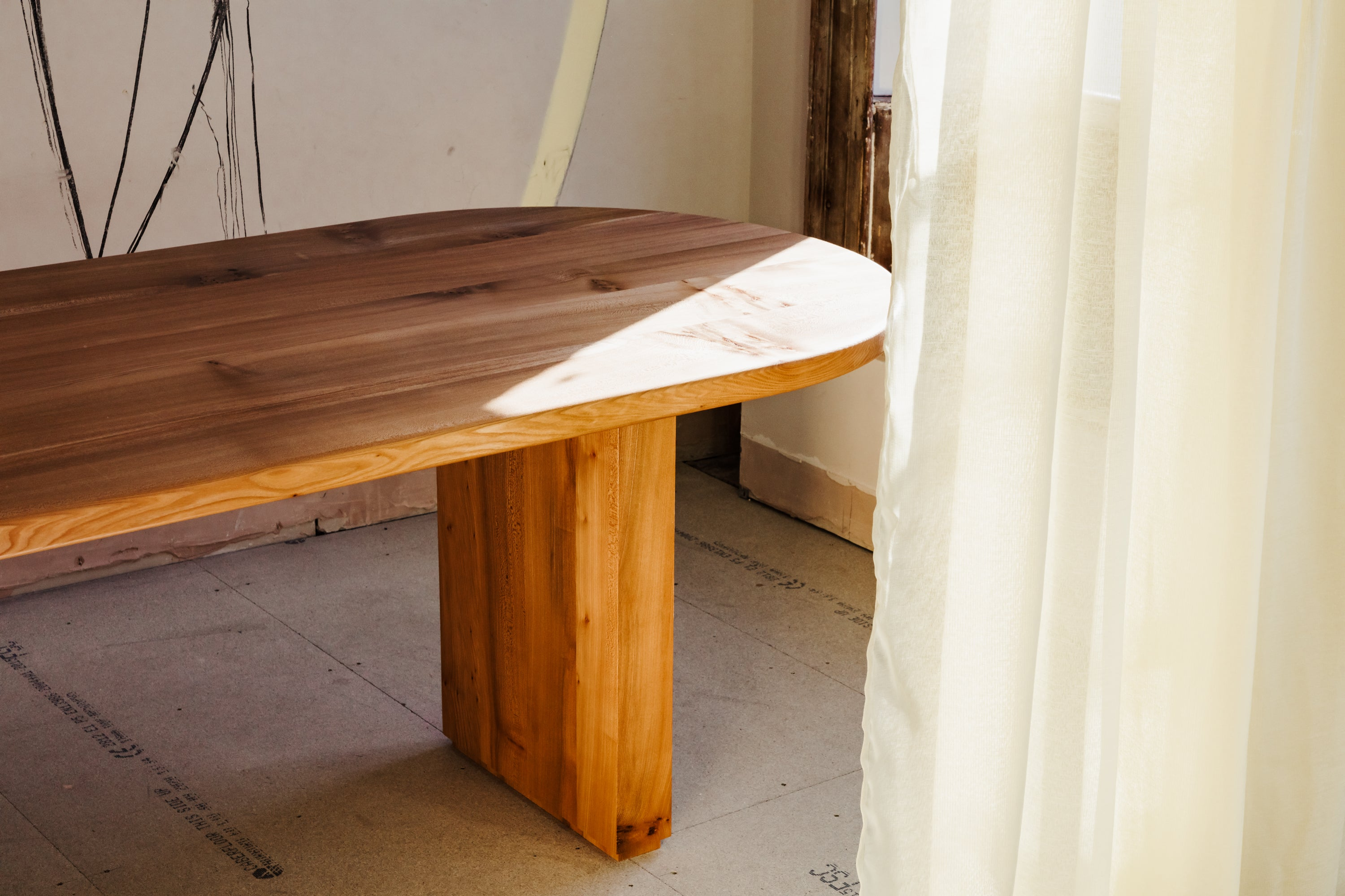 Soft Curves and the rich natural tones of English Elm