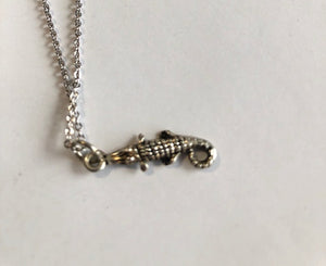 Silver Alligator Necklace