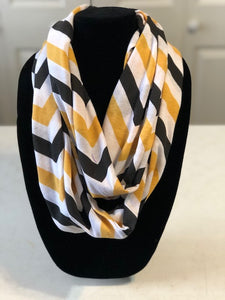 Black & Gold Chevron Scarf