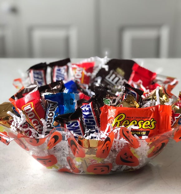 Halloween bowl of candy