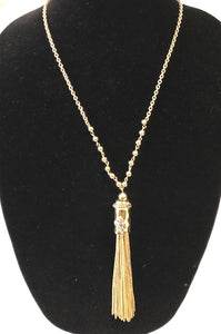 FDL Barrel Tassel Necklace
