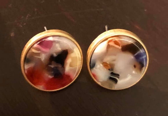 Disc earrings Multi Color