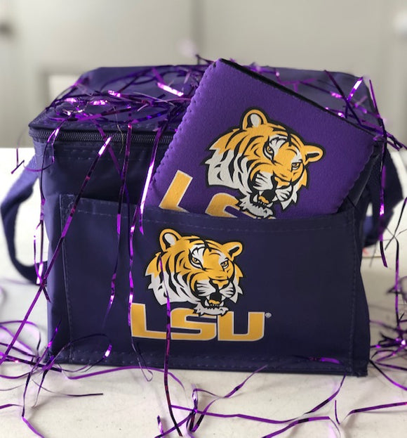 LSU Lunch Tote & Koozie