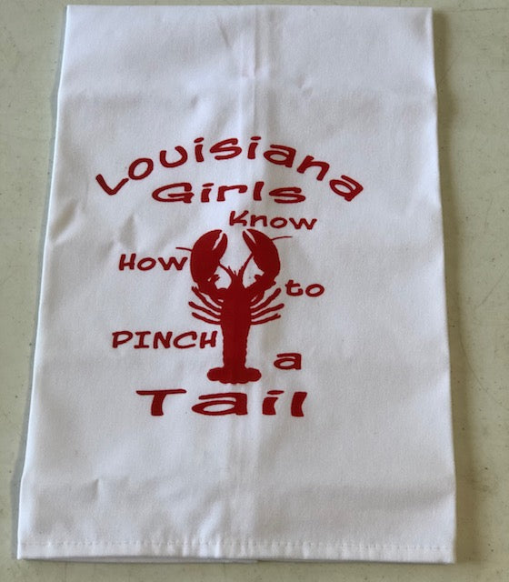Louisiana Girls Pinch Tails Towel