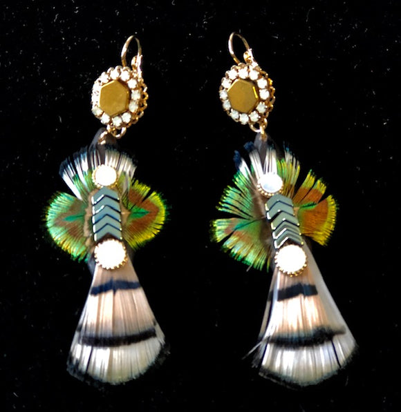 Peacock Tail Earrings