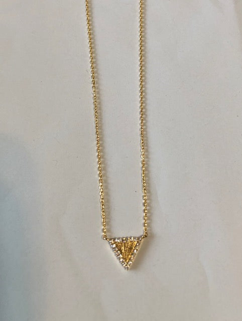 Bling Triange Necklace