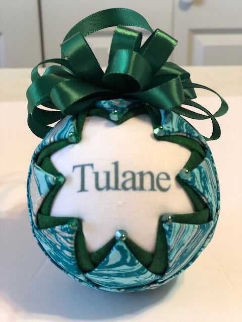 Tulane Beaded Ornament
