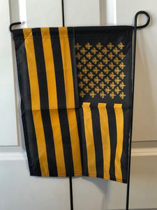 Black & Gold Garden Flag