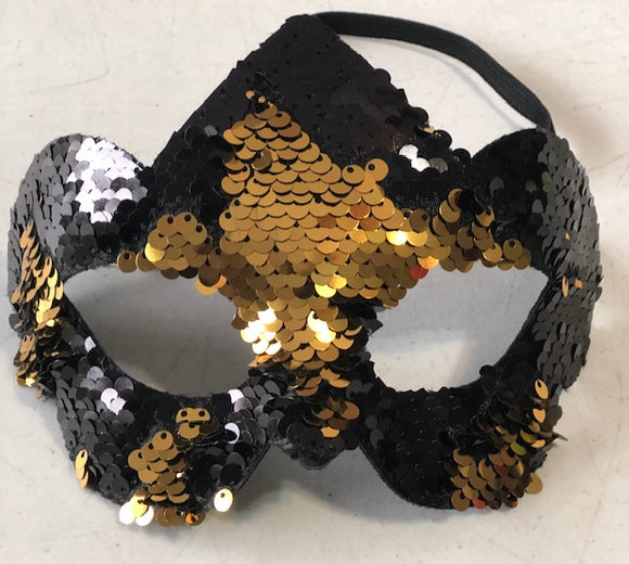 Black and Gold flip mask