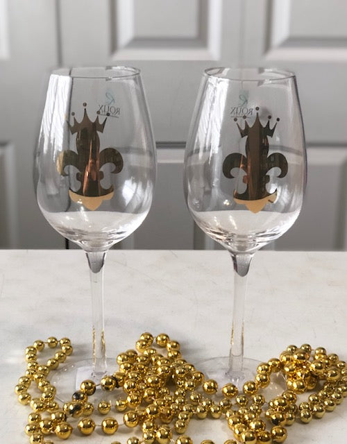 FDL Crown Wine Glass Pair
