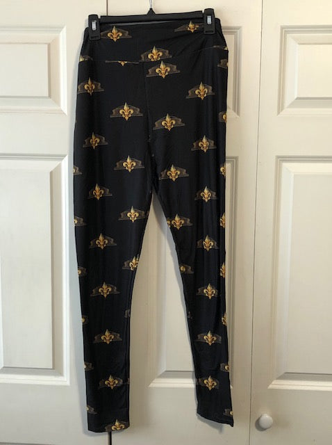 Black & Gold Dome Leggings