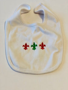 Red & Green FDL Baby Bib