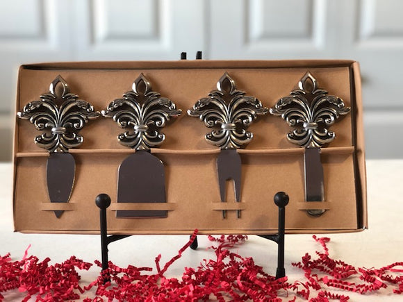 Fleur de Lis Cheese Spreader Gift Set