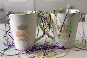 King and Queen Mardi Gras Mug