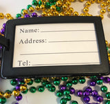 Mardi Gras Luggage Tag